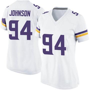 Women's Nike Minnesota Vikings Jaleel Johnson White Jersey - Game