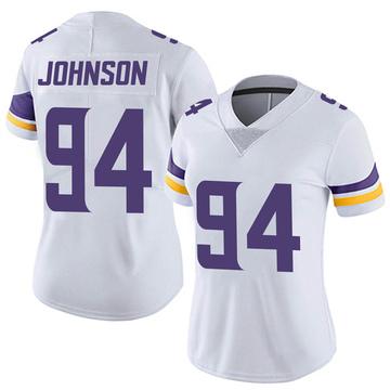 Women's Nike Minnesota Vikings Jaleel Johnson White Vapor Untouchable Jersey - Limited
