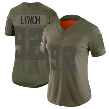 Women's Nike Minnesota Vikings James Lynch Camo 2019 Salute to Service Jersey - Limited