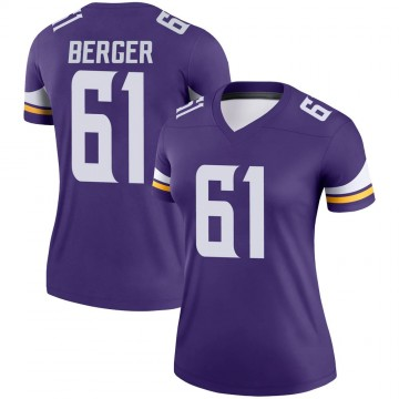 Women's Nike Minnesota Vikings Joe Berger Purple Jersey - Legend