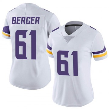 Women's Nike Minnesota Vikings Joe Berger White Vapor Untouchable Jersey - Limited