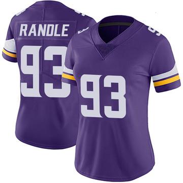 Women's Nike Minnesota Vikings John Randle Purple 100th Vapor Jersey - Limited