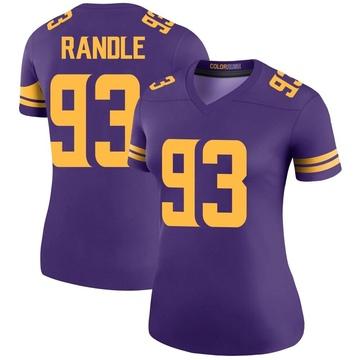 Women's Nike Minnesota Vikings John Randle Purple Color Rush Jersey - Legend