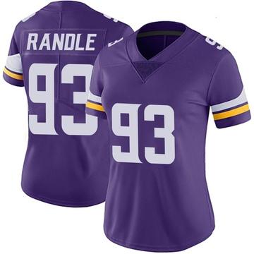 Women's Nike Minnesota Vikings John Randle Purple Team Color Vapor Untouchable Jersey - Limited