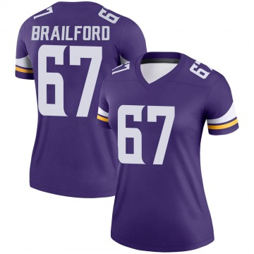 Women's Nike Minnesota Vikings Jordan Brailford Purple Jersey - Legend