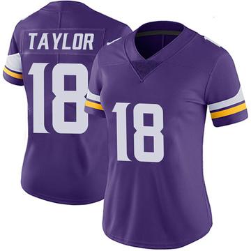 Women's Nike Minnesota Vikings Jordan Taylor Purple 100th Vapor Jersey - Limited
