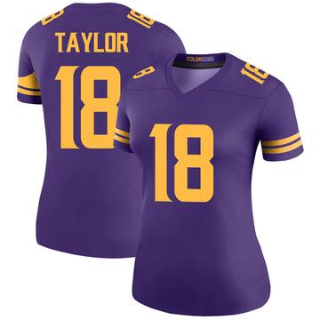 Women's Nike Minnesota Vikings Jordan Taylor Purple Color Rush Jersey - Legend