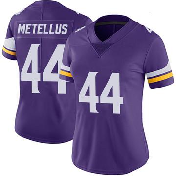 Women's Nike Minnesota Vikings Josh Metellus Purple 100th Vapor Jersey - Limited