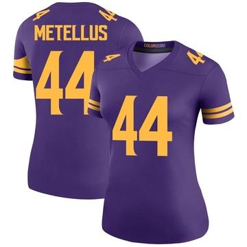 Women's Nike Minnesota Vikings Josh Metellus Purple Color Rush Jersey - Legend
