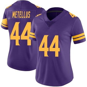 Women's Nike Minnesota Vikings Josh Metellus Purple Color Rush Jersey - Limited