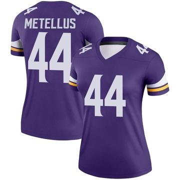 Women's Nike Minnesota Vikings Josh Metellus Purple Jersey - Legend