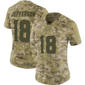 Women's Nike Minnesota Vikings Justin Jefferson Camo 2018 Salute to Service Jersey - Limited