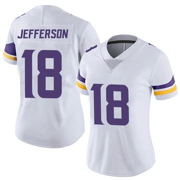 Women's Nike Minnesota Vikings Justin Jefferson White Vapor Untouchable Jersey - Limited