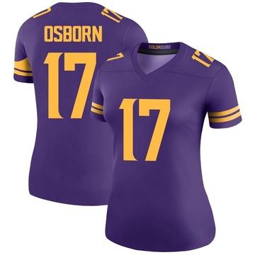 Women's Nike Minnesota Vikings K.J. Osborn Purple Color Rush Jersey - Legend