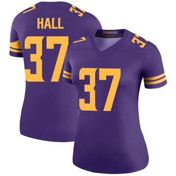 Women's Nike Minnesota Vikings Kemon Hall Purple Color Rush Jersey - Legend