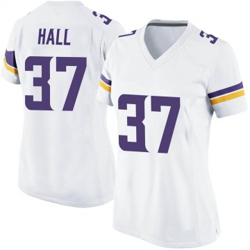 Women's Nike Minnesota Vikings Kemon Hall White Jersey - Game