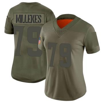 Women's Nike Minnesota Vikings Kenny Willekes Camo 2019 Salute to Service Jersey - Limited