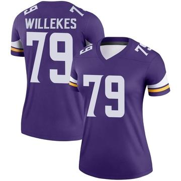 Women's Nike Minnesota Vikings Kenny Willekes Purple Jersey - Legend