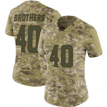 Women's Nike Minnesota Vikings Kentrell Brothers Camo 2018 Salute to Service Jersey - Limited