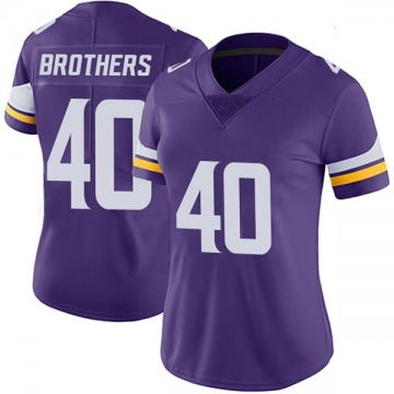 Women's Nike Minnesota Vikings Kentrell Brothers Purple Team Color Vapor Untouchable Jersey - Limited