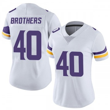 Women's Nike Minnesota Vikings Kentrell Brothers White Vapor Untouchable Jersey - Limited