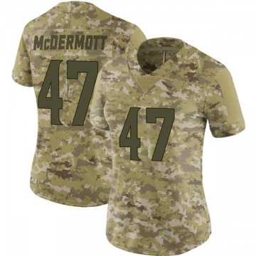 Women's Nike Minnesota Vikings Kevin McDermott Camo 2018 Salute to Service Jersey - Limited