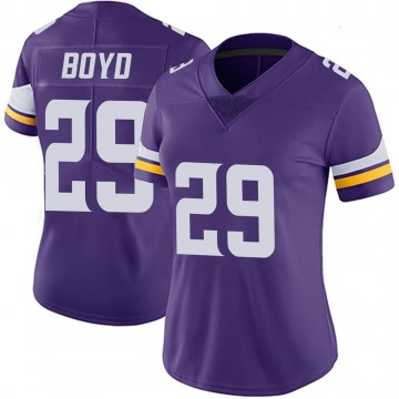 Women's Nike Minnesota Vikings Kris Boyd Purple 100th Vapor Jersey - Limited