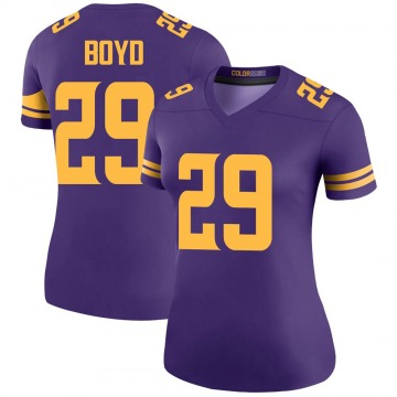 Women's Nike Minnesota Vikings Kris Boyd Purple Color Rush Jersey - Legend