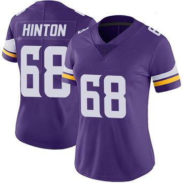 Women's Nike Minnesota Vikings Kyle Hinton Purple 100th Vapor Jersey - Limited
