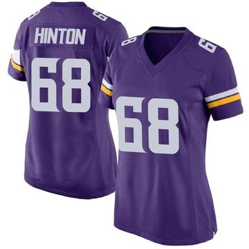 Women's Nike Minnesota Vikings Kyle Hinton Purple Team Color Jersey - Game
