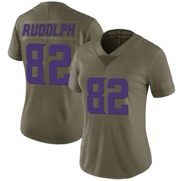 Women's Nike Minnesota Vikings Kyle Rudolph Green 2017 Salute to Service Jersey - Limited