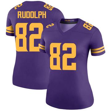 Women's Nike Minnesota Vikings Kyle Rudolph Purple Color Rush Jersey - Legend