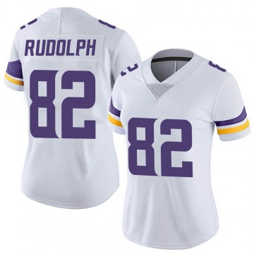 Women's Nike Minnesota Vikings Kyle Rudolph White Vapor Untouchable Jersey - Limited