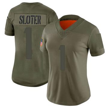 Women's Nike Minnesota Vikings Kyle Sloter Camo 2019 Salute to Service Jersey - Limited