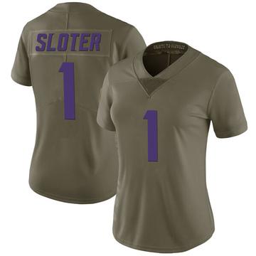 Women's Nike Minnesota Vikings Kyle Sloter Green 2017 Salute to Service Jersey - Limited