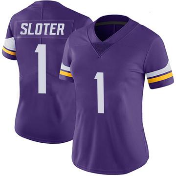 Women's Nike Minnesota Vikings Kyle Sloter Purple 100th Vapor Jersey - Limited