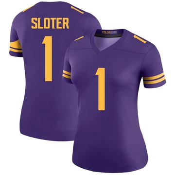 Women's Nike Minnesota Vikings Kyle Sloter Purple Color Rush Jersey - Legend