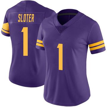 Women's Nike Minnesota Vikings Kyle Sloter Purple Color Rush Jersey - Limited