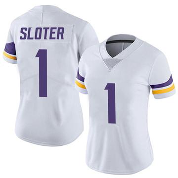 Women's Nike Minnesota Vikings Kyle Sloter White Vapor Untouchable Jersey - Limited