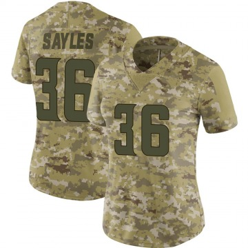 Women's Nike Minnesota Vikings Marcus Sayles Camo 2018 Salute to Service Jersey - Limited