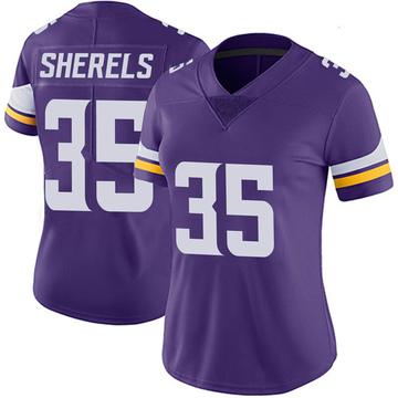 Women's Nike Minnesota Vikings Marcus Sherels Purple 100th Vapor Jersey - Limited