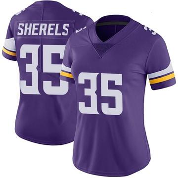 Women's Nike Minnesota Vikings Marcus Sherels Purple Team Color Vapor Untouchable Jersey - Limited