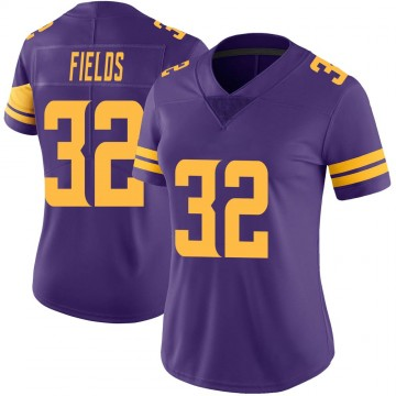 Women's Nike Minnesota Vikings Mark Fields Purple Color Rush Jersey - Limited