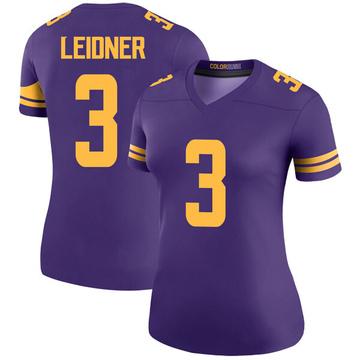Women's Nike Minnesota Vikings Mitch Leidner Purple Color Rush Jersey - Legend