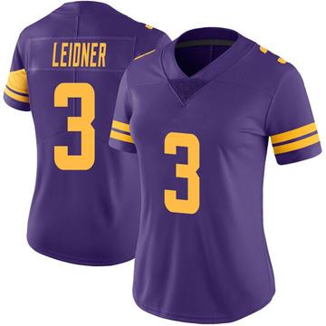 Women's Nike Minnesota Vikings Mitch Leidner Purple Color Rush Jersey - Limited