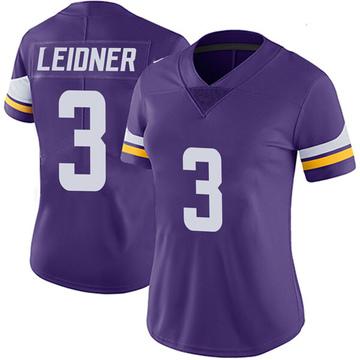 Women's Nike Minnesota Vikings Mitch Leidner Purple Team Color Vapor Untouchable Jersey - Limited