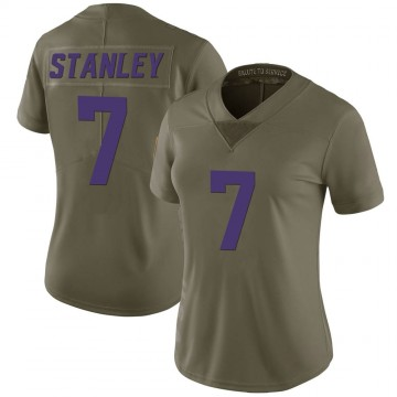 Women's Nike Minnesota Vikings Nate Stanley Green 2017 Salute to Service Jersey - Limited