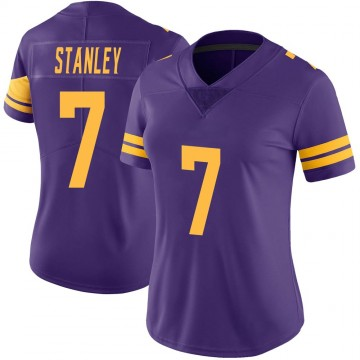 Women's Nike Minnesota Vikings Nate Stanley Purple Color Rush Jersey - Limited