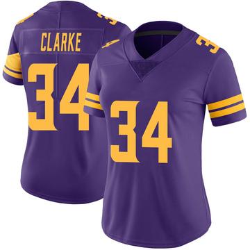 Women's Nike Minnesota Vikings Nevelle Clarke Purple Color Rush Jersey - Limited