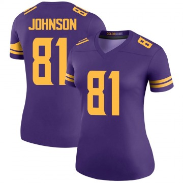 Women's Nike Minnesota Vikings Olabisi Johnson Purple Color Rush Jersey - Legend
